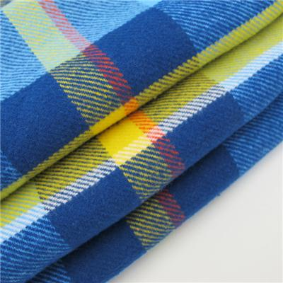 Yarn Dyed Flannel Check Shirt Fabric