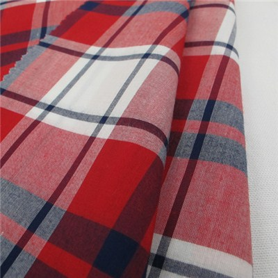 Rayon Check Shirt Fabric