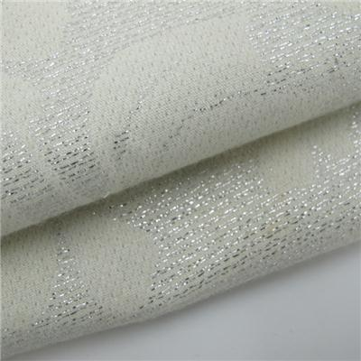 Jacquard Lurex Fabric White