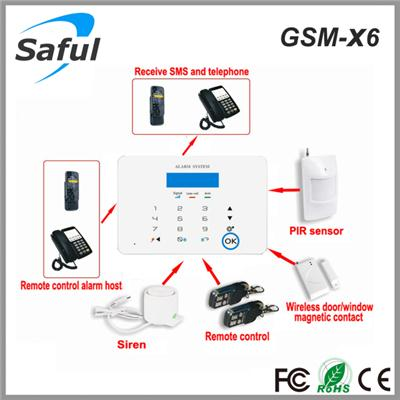 Saful GSM-X6 GSM Touch Screen Wireless Alarm System
