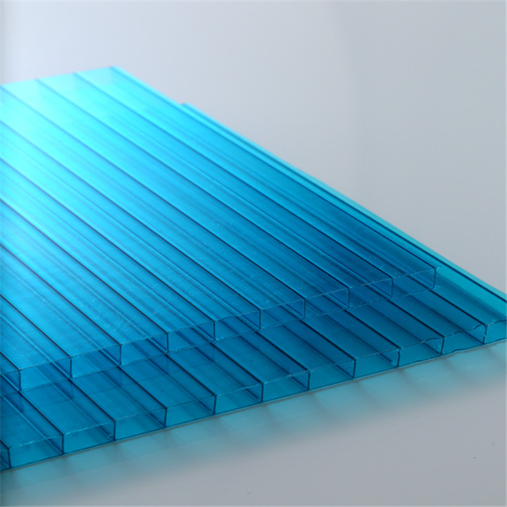 UV coating grade A 4mm/5mm/6mm/8mm/10mm twin wall polycarbonate hollow pc sheet
