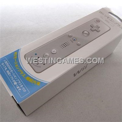 2IN1 Remote Controller With Built-in Motion Plus For Nintendo Wii / WII U - White