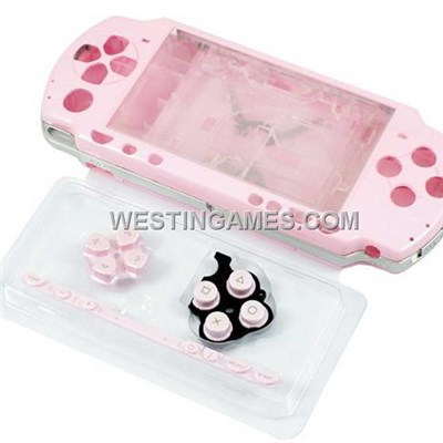 Full Housing Shell Case Replacement Pink For PSP 2000/Slim