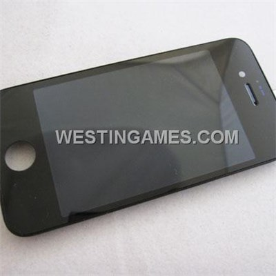 LCD Screen Display With Touch Screen + Stand Full Assembly For Apple iPhone 4S - Black