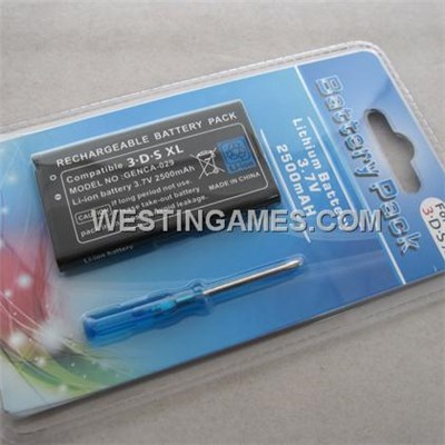 Replacement V3.7 2500mAh Li-ion Battery For Nintendo 3DS XL/LL