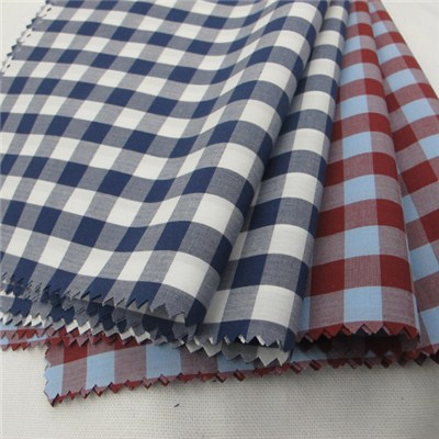 Yarn Dyed Gingham Fabric For Shirt 80s