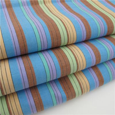 100% Cotton Yarn Dyed Stripe Woven Fabric