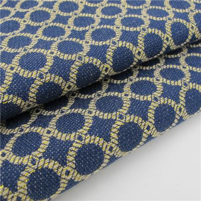 Jacquard Fabric With Gold Lurex