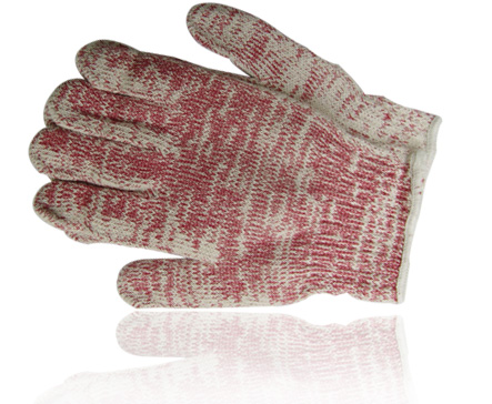 Blended yarn gloves