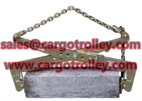Stone lifting clamps details with price list