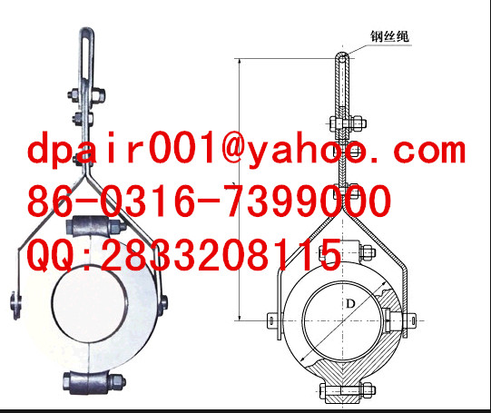 protective suspension type high voltage cable clamp