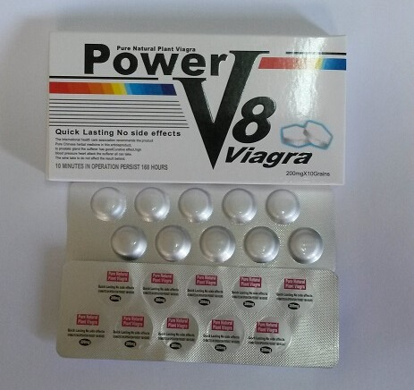Pure Natural Plant Viagra Power V8 Male Quick Lasting Sex Pills