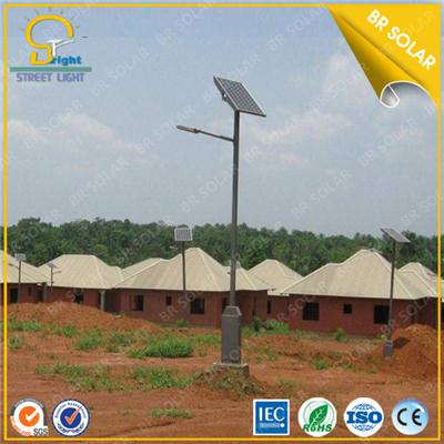 High brightness 80W LED solar light with 8m height pole