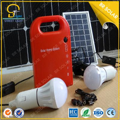 Mini 5w solar lighting system for home with easy installation