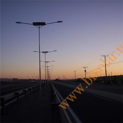 Double Lamps Solar Street Lights