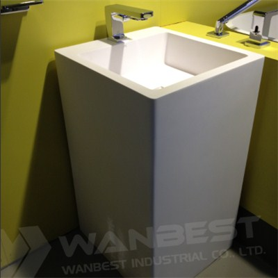 Square Solid Surface Sink
