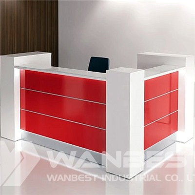 White And Red Reception Counter