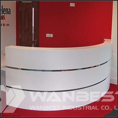Solid Surface Reception Counter