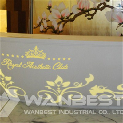 Led Lighting Flower Pattern Reception Desk