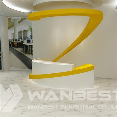 Circle Solid Surface Reception Desk