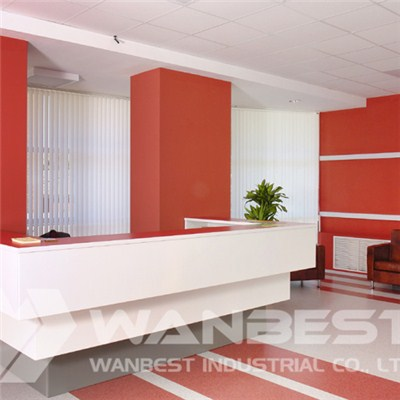 Hanex White Reception Desk
