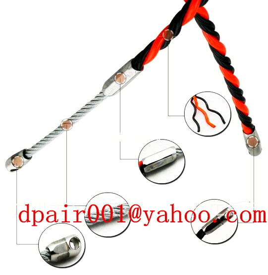 L06S30 plastic steel cobra duct rod