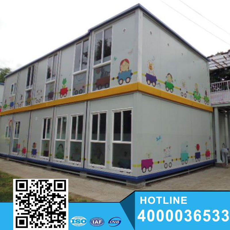 Modern Steel Style prefab school home modular container house for sale