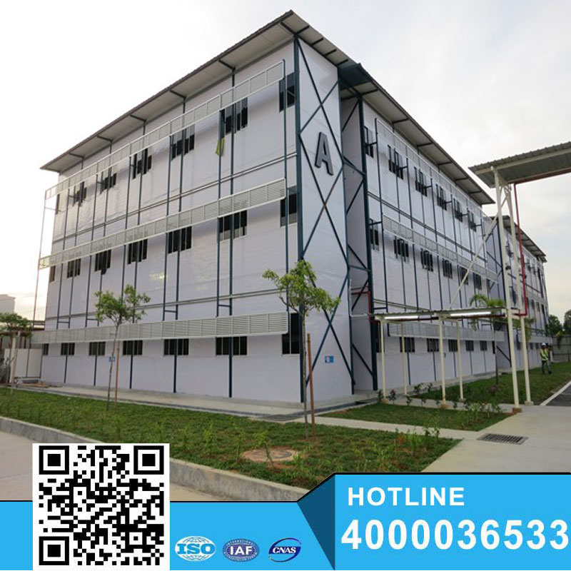 K slope roof envirionmental modular house for construction site with good appearance