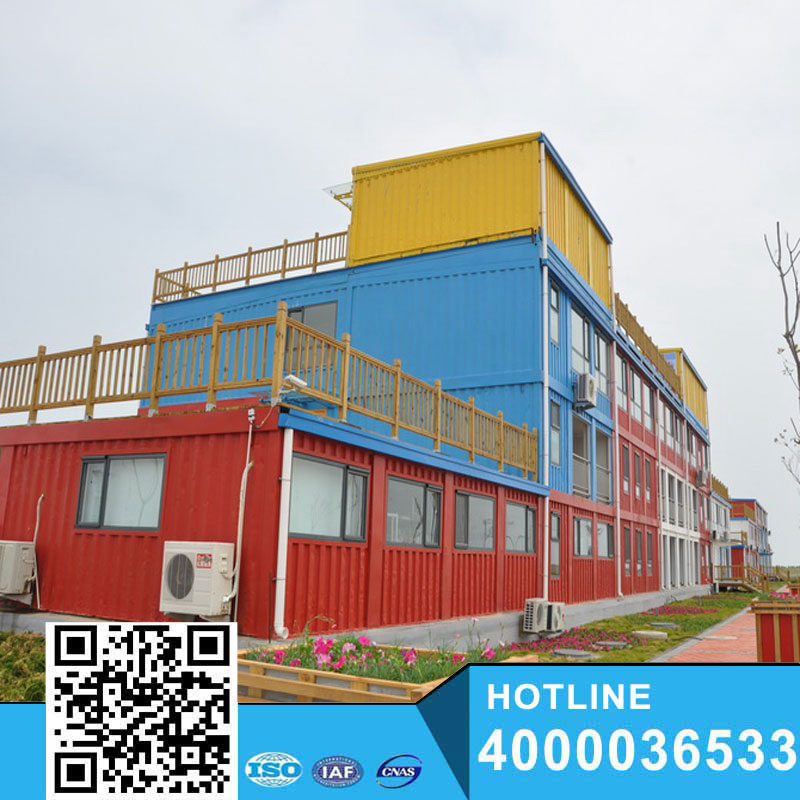 The steel structure housing Container Vacation Hotel