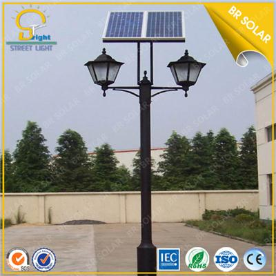 Double LED Lamp solar park light with 2 arms