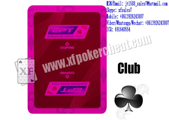 XF EPT Plastic Coated Playing Cards With Sides Bar-Codes Markings Or Backside Invisible Markings For Poker Analyzer Or For UV Contact Lenses Or For Natural Visible Black Dot Contact Lenses