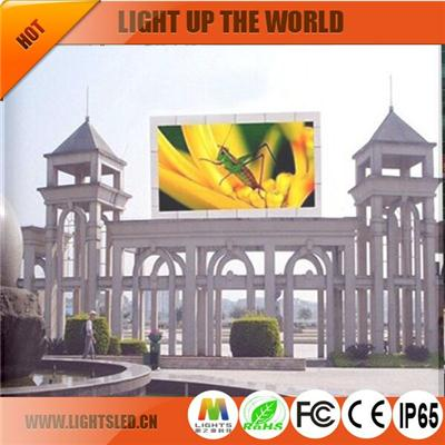 p8 outdoor high resolution led display for advertising