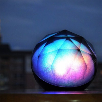 Ultra-Portable Wireless Crystal Ball Bluetooth Speaker,with Disco LED Light,Powerful Sound With Built In Microphone