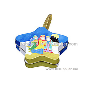 .F06003 Star Shape Tin Box
