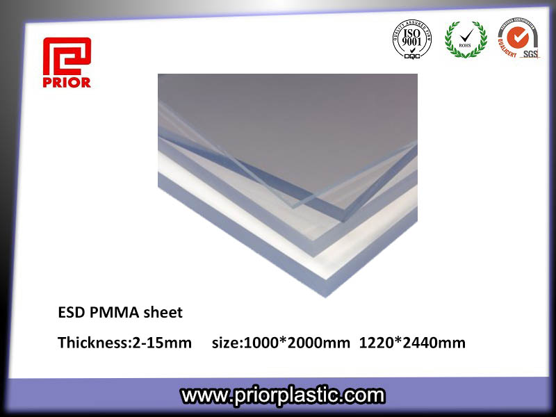 ESD acrylic sheet with 1220*2440mm size