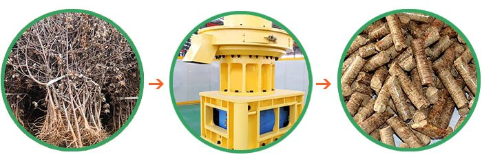 Ring Die Wood Pellet Mill/Wood Pellet Mill/Fote Pellet Machine