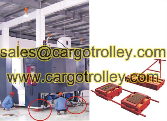 Load moving trolleys applied on moving and handling works