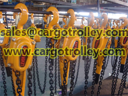 Lever chain blocks instruction and price list