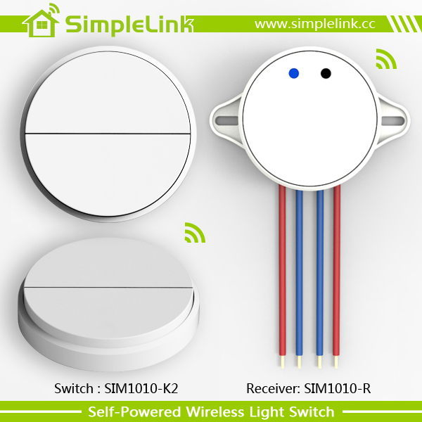 wireless and battery-free wall switch