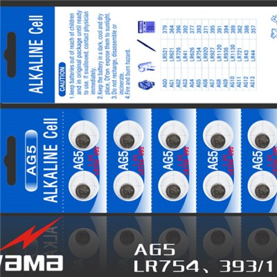 AG5 Alkaline Button Cell Battery
