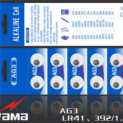 AG3 Alkaline Button Cell Battery