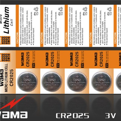 CR2025 Lithium Button Cell Battery