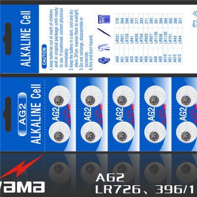 AG2 Alkaline Button Cell Battery