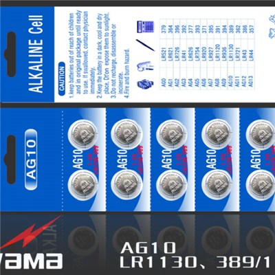 AG10 Alkaline Button Cell Battery