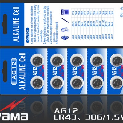 AG12 Alkaline Button Cell Battery