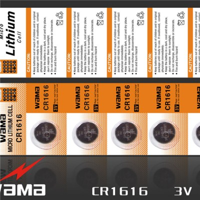 CR1616 Lithium Button Cell Battery