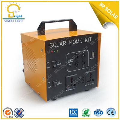 Portable solar power system 500W for home use with LCD,AC, DC function