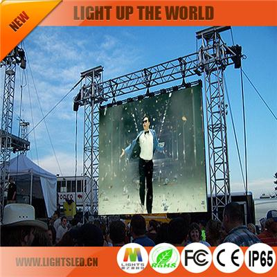 P10 led rental screen