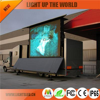 P10 high brightness truck led display