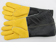 Grain Cow Leather Safety BBQ Gloves